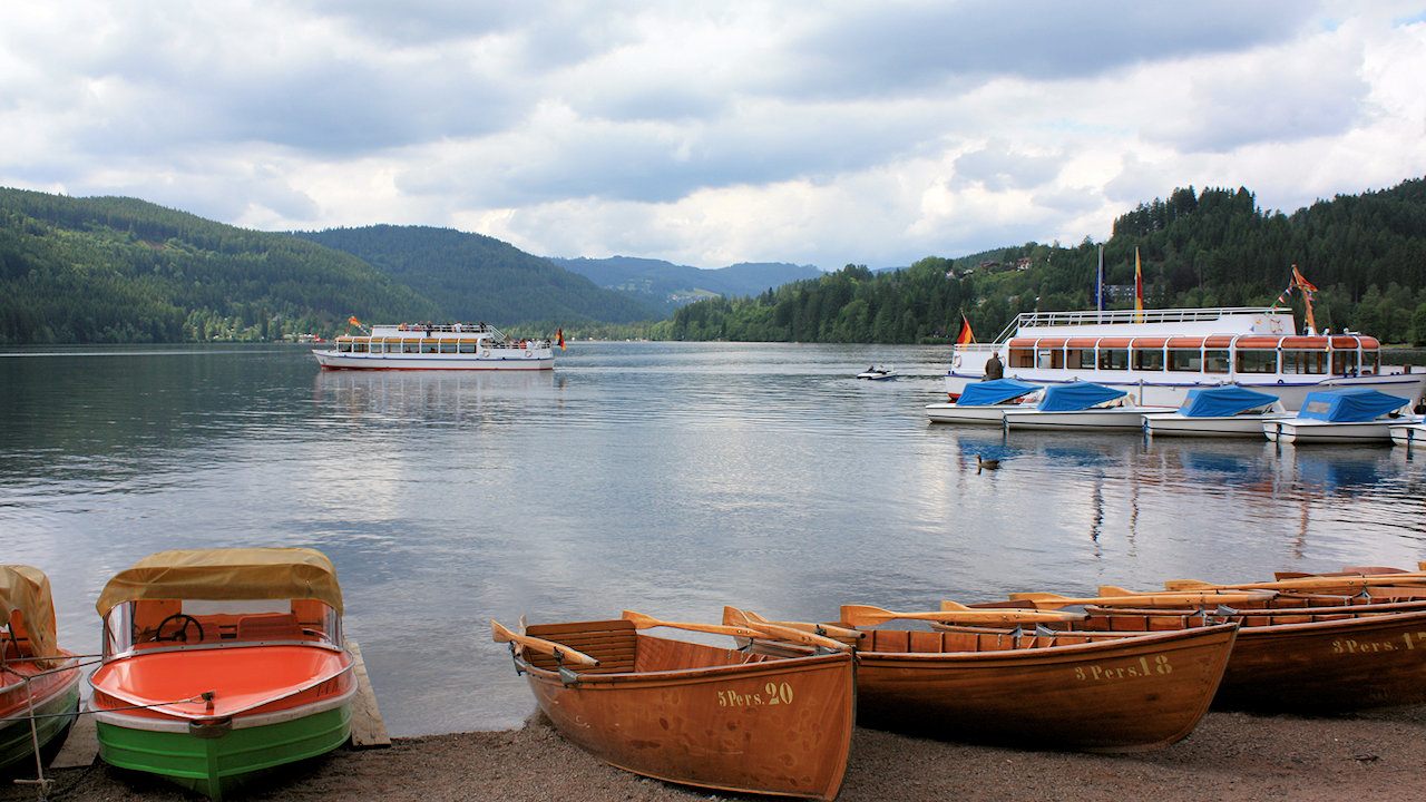 Lake Titisee In The Black Forest Germany