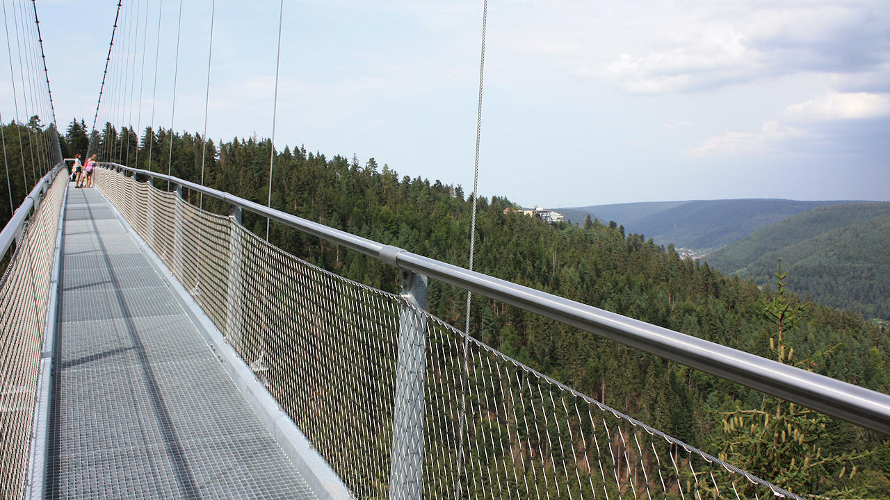 Suspension bridge in Bad Wildbad in the Black Forest